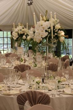 So the final part of this wonderously luscious and opulent wedding day, the ceremony is on our previous posting so if you're joining the st. Wedding Reception, Our Wedding, Dream Wedding, Sell Wedding Dress, Crystal Candelabra, Phalaenopsis Orchid, Orchids, Romantic Candles, Bridal Dress Design