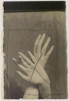 Man Ray — Mains, 1925 - drawing on photograph