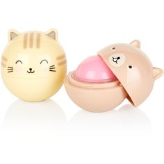Oh K Cat Duo Lip Balm ($8.17) ❤ liked on Polyvore featuring beauty products, skincare, lip care and lip treatments
