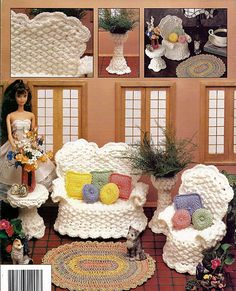 The Veranda Fashion Doll Furniture Crochet by grammysyarngarden