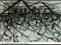 134. Giacomo Balla, automobile in corsa, 1913/14 tela collezione privata