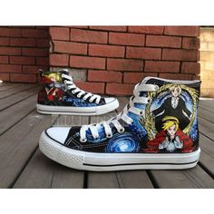 Fullmetal Alchemist hand painted high top converse for men/women Painting time is about 10 hours. Difficulty: 4 stars.  Note: 1. the shoes listed are converse brand, we offer another cheaper regular b