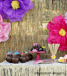 A luau hawaiian themed party with loads of DIY decoration ideas!  by Uncommon Designs