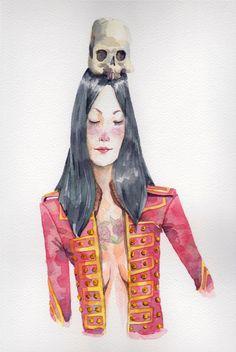 Kitsune - Saya by Ron Ilustrador, via Behance