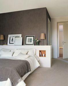 Оттенки серого в дизайне спальни