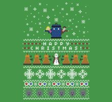 "Doctor Who ""ugly"" Christmas Timey Wimey Sweater Shirt.  10th (11th!) Doctor and Rose"