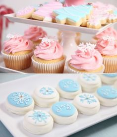 vintage pastel Christmas party / cookies / cupcakes decorating ideas via www.karaspartyideas.com