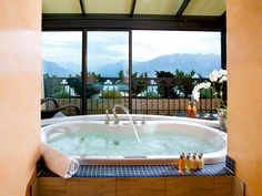 Our Presidential Suite has got a central bathtub - perfect to admire the view Dream Hotel, Above The Clouds, Bathtub, Rooms, Outdoor Decor, Travel, Home Decor, Standing Bath, Bedrooms