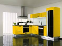 Black and white kitchen ideas translate well into various design themes, whether you have an ultra-modern kitchen, formal kitchen or casual kitchen. Add colorful touches for the final touch of black and white kitchen ideas. Green Kitchen Decor, Green Kitchen Cabinets, Yellow Home Decor, Kitchen Cabinet Design, Modern Kitchen Design, Kitchen Ideas, Drawer Design, Diy Kitchen Storage, Home Goods Decor
