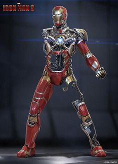 cool iron man 1978 avengers hd IRON MAN 3 Concept Art by Andy Park Rodney Fuentabella and Josh Iron Man 3, Iron Man Armor, Marvel Dc, Marvel Heroes, Marvel Comics, Iron Man Kunst, Les Innocents, Concept Art World, Film Iron Man 3