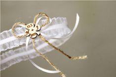 Svatební podvazek - bílý - s iniciály, jménem,.. Party, Jewelry, Jewlery, Jewerly, Schmuck, Parties, Jewels, Jewelery, Fine Jewelry