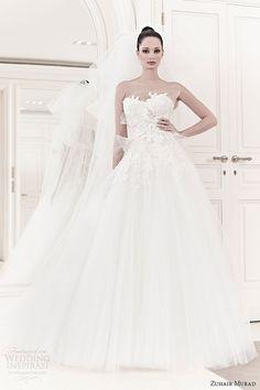 zuhair-murad-bridal-spring-2014-faun-strapless-mini-wedding-dress-ball-gown-over-skirt.jpg (600×900)