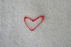 Hedvig Handarbetar: Hjärtstygn - hur gör man?