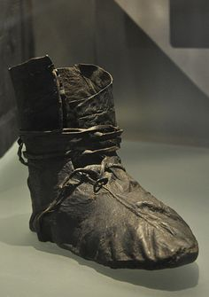 A viking shoe from Oseberg ship burial, Norway