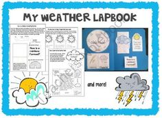 My Weather Lapbook Teaching Weather, Kindergarten Social Studies, Teacher Notebook, Right Brain, 5th Grades, Phonics, Science, Education, Words