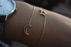 These star and moon bracelets are so cute... they would be perfect for @Ashleigh {bee in our bonnet} {bee in our bonnet} Sesi and @Erica Cerulo Cerulo Sesi