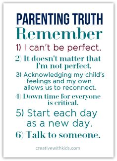 Just in case you need this. :: Parenting Reminder for the Hardest Days – Printable