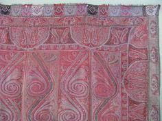 Antique Kashmir Shawl by cyberrug Kashmiri Shawls, Textile Art, Hand Weaving, Paisley, Textiles, Quilts, Blanket, Antiques, Crafts