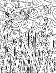 zentangle fish adult coloring page, adult coloring sheet, colouring sheet, adult colouring book, pri Free Adult Coloring Pages, Colouring Pages, Coloring Sheets, Coloring Books, Fish Zentangle, Zentangles, Zentangle Patterns, Doodle Patterns, Buch Design