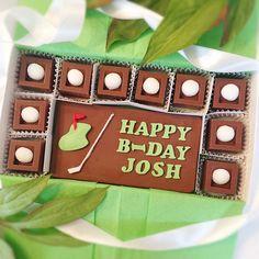 Chocolate Birthday Golf Gift  Happy BirthDay Golf Chocolate