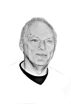 David Gilmour Pink Floyd  Charcoal drawing by Bert de Ruiter
