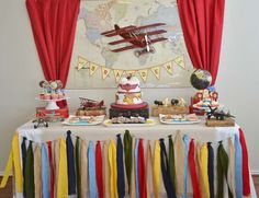 Vintage Airplane Birthday Party Ideas | Photo 1 of 15 | Catch My Party