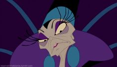 Yzma, The Emperor's New Groove.  The power hungry former advisor to Emperor Kuzco is desperate to be ruler.