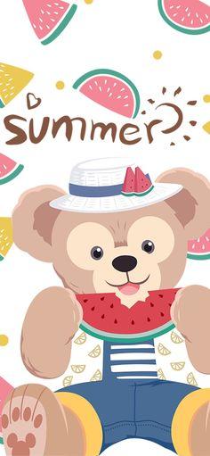 New Wallpaper Iphone, Sanrio Wallpaper, Disney Phone Wallpaper, Friends Wallpaper, Bear Wallpaper, Kawaii Wallpaper, Pretty Wallpapers, Cute Cartoon Wallpapers, Duffy The Disney Bear