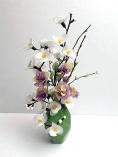 Handmade Nylon Flower Arrangement Floral Tabletop Wedding