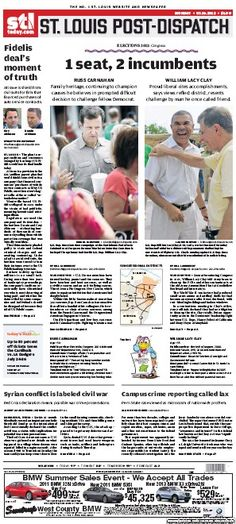 St. Louis Post-Dispatch July 16, 2012  #STL #newspapers