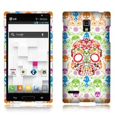 This design #Hard #Cover #Case - White Skull Flowers makes your #LG #Optimus #L9 #P769 to be in harmony between gentle and sweet style with with sassy and cute style! It will help your phone stand out with new look! Your phone will be more attractive! Get it at a@Acetag with very cheap price and high quality, only $7.99. Protect your phone by your style!