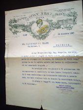 LETTERA PREMIATO ISTITUTO BACOLOGICO COMM. GEROLAMO QUIRICI PAVIA 1927 SAPORETTI