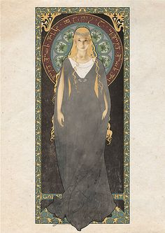 The Lord of the Rings - Galadriel - Lady of the Galadhrim - art nouveau by koroa #elves