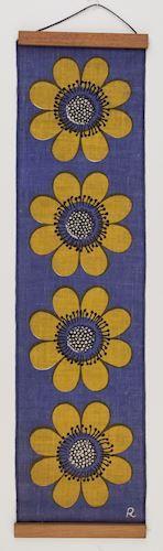 Wall Hanging - John Rodriquez, Large Flowers, circa 1960s