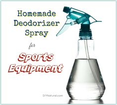 This homemade, natural deodorizer spray for your sports equipment will help keep those scary gym bag smells at bay so we can focus on winning our sports seasons!