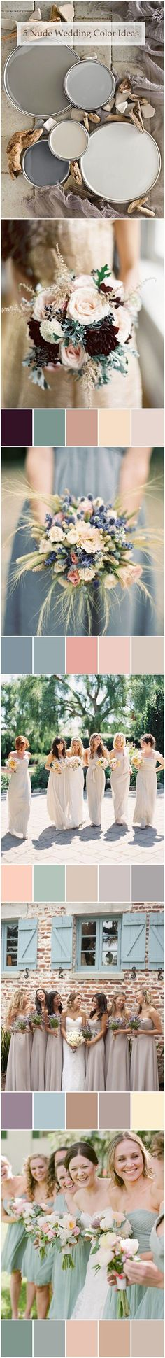 top 6 trending nude neutral wedding color ideas #weddingcolors #weddingideas