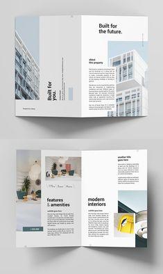 25 Fresh Freebies for Web & Graphic Designers Booklet Design Layout, Pamphlet Design, Brochure Layout, Brochure Design, Brochure Template, Brochure Ideas, Real Estate Branding, Real Estate Flyers, Case Study Design