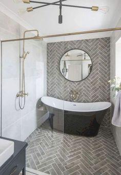 Cottage Bathroom Design Ideas, Bathroom Tile Designs, Modern Bathroom Design, Bathroom Interior Design, Bathroom Ideas, Bathroom Organization, Bathroom Storage, Bathroom Bin, Bathroom Plans