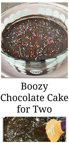 Boozy Chocolate Cake for Two - fudgy cake made for two people!