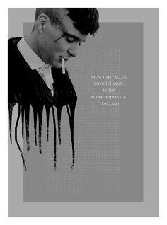 Peaky Blinders. In the bleak midwinter... Series Movies, Tv Series, Marilyn Monroe Painting, Red Right Hand, The Garrison, Blind Love, British Things, Irish American, Cillian Murphy
