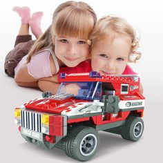 Kids Boys DIY Racing Car Educational Construction Toys Building Blocks Bricks #Unbranded