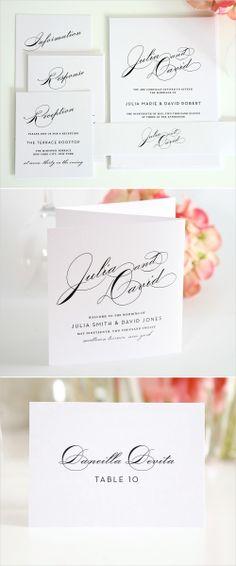 Love the simplicity. Would look good with dark gray font. http://www.shineweddinginvitations.com/wedding-invitations/vintage-glam-wedding-invitations