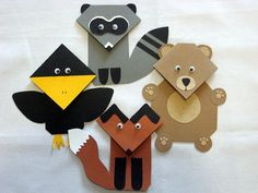Forest Critter Corner Bookmark Set of 4 by ShesComeUnbound on Etsy, $15.00