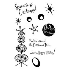 Brand New My Sentiments Exactly Clear Stamps 4X6 SheetRockin Around Christmas Brand New >>> You can get more details by clicking on the image.