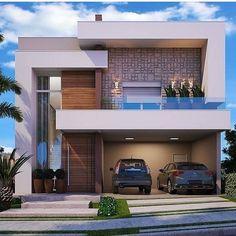 Ideas Minimalist House Design Architecture Simple For 2019 Modern Exterior House Designs, Modern House Facades, Dream House Exterior, Modern Architecture House, Cool House Designs, Architecture Design, Architecture Diagrams, Architecture Portfolio, 2 Storey House Design