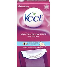 MUST HAVE VEET SENS LEG WAX STRIP 40CT - This is the best solution I have found for overall body hair. I use my blow dryer on low to heat the wax and rub the wax firmly into the hair. When pulling the strips, pull close the body instead of out and away. This is easy to use, non messy, convenient, and much less costly than 4 services at a spa! AMAZING! $8