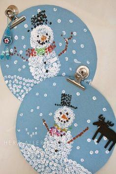 40 χριστουγεννιάτικες κατασκευές με χιονάνθρωπους