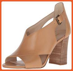 Nine West Women's Boland Leather Dress Sandal, Natural, 8 M US - Sandals for women (*Amazon Partner-Link)