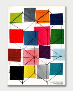 Charles Eames design for a kite, pasted up from brilliant swatches of paper (Portfolio Magazine, Volume 2)