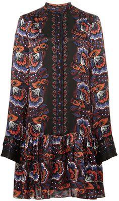 Thakoon Silk Gathered Peplum Shirtdress